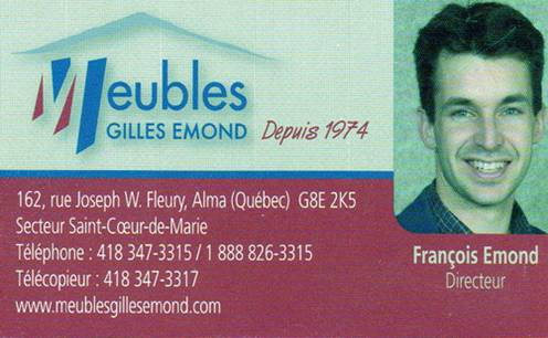 Nos commanditaires 2014 for Gilles emond meuble